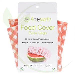 4my earth food cover XL red gingham