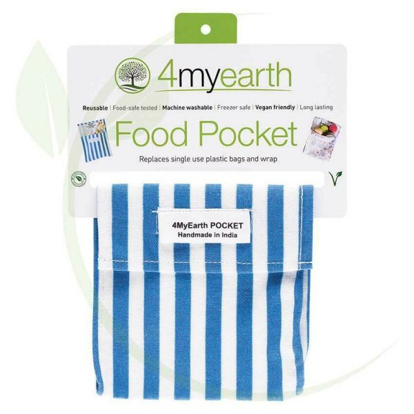4myearth food pocket denim stripe