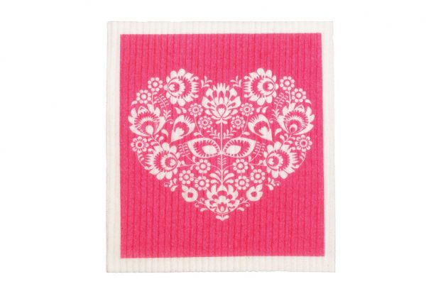 RetroKitchen_biodegradeable_dish_cloths_heart_with_pink_background