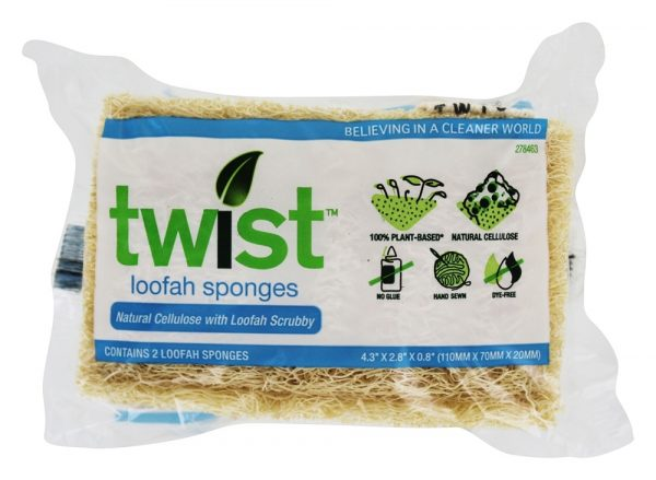 Twist Loofah Sponges