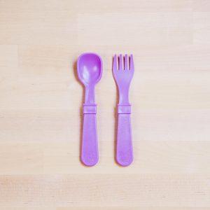 Re-Play Utencil set purple