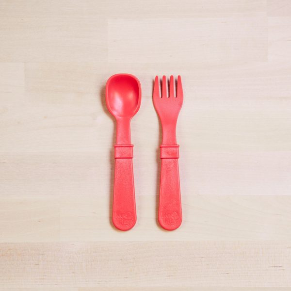 Re-Play Utencil set red